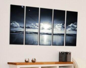 Canvas Prints - Sunset Canvas Wall Art - Sunset Canvas Art - Sunset Canvas Photo Print - Framed Ready to Hang - Seascape Prints