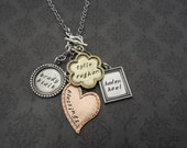 Hand Stamped Jewelry -Personalized Necklace for mother or Grandmother