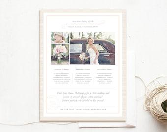 Wedding Price List Samples