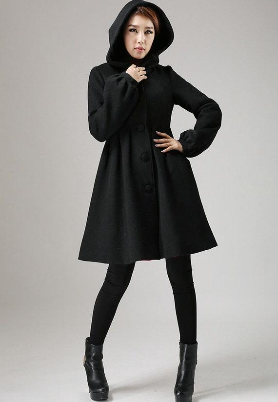 winterjacke schwarze jacke jacke aus schurwolle wollmantel. Black Bedroom Furniture Sets. Home Design Ideas