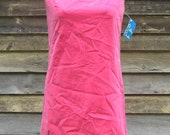 RESERVED ~ Vintage 1960s Pink Velvet Bobbie Brooks Party Dress  S/M NWT