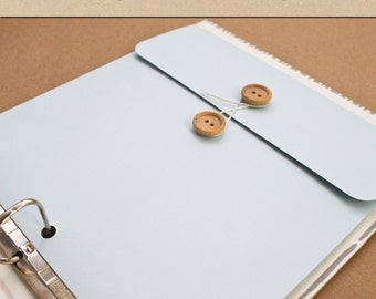 Keepsake Envelope - Baby Blue -  Include in your Two Giggles Baby Album
