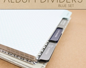 Blue Album Dividers Set  - Include in your Two Giggles Baby Album
