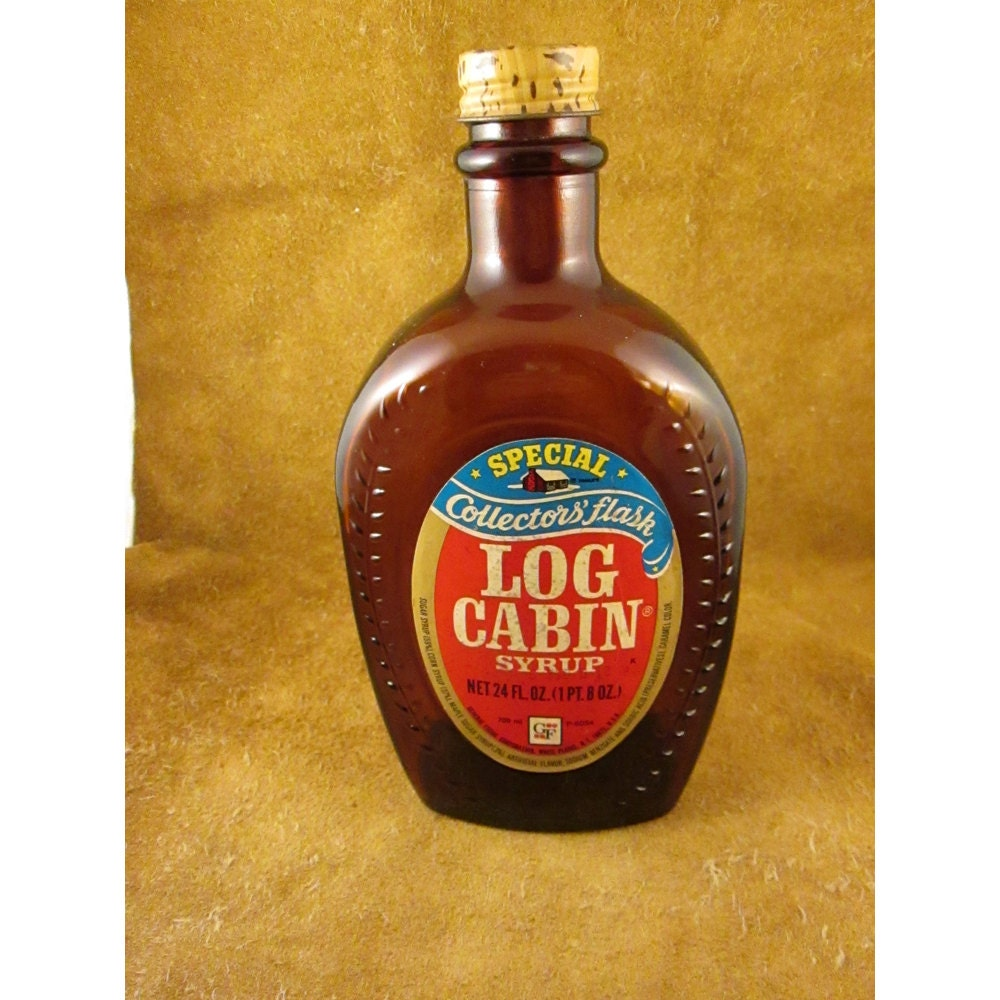 Benjamin franklin log cabin syrup bottle by getmenottreasures