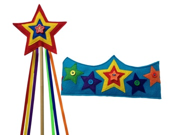 Bright Delight Star Crown and Wand Set