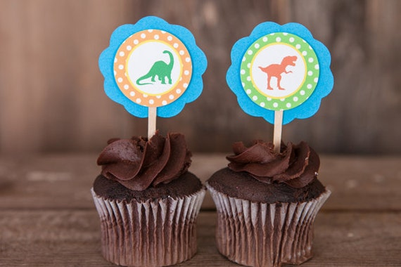 dinosaur baby shower cupcake toppers baby shower decorations