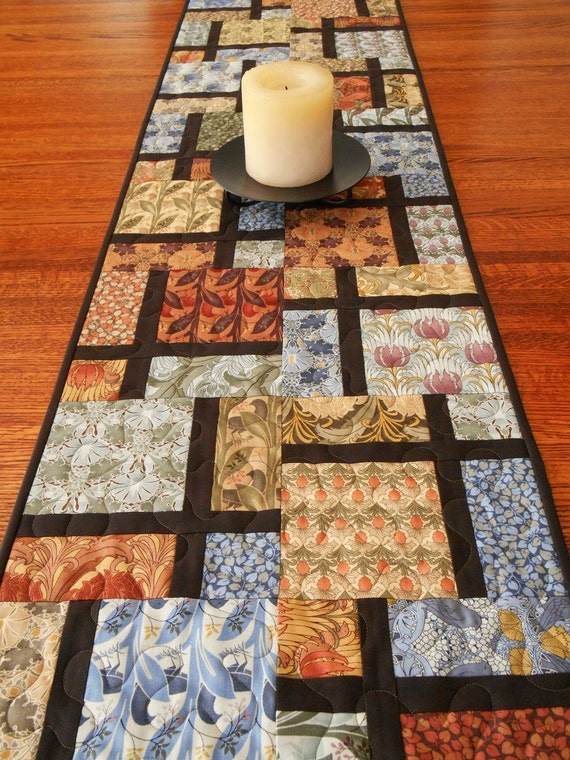 Contemporary quilted table runner in arts and crafts style for Modern arts and crafts