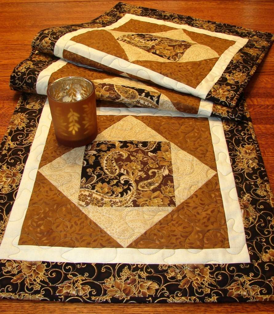 Autumn Fall Thanksgiving Quilted Table Runner Extra Long In