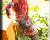 Tank Top - Tunic - Burning Man - Sleeveless Top - Shabby Chic Boho Fashion - Ivory Lace - Sexy Top - Camisole - Size Small