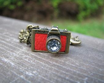 Red Camera Doll Necklace for Blythe, Pullip, Dal, Monster High, BJD etc.