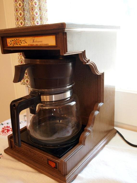 Vintage Farberware Faux Bois Coffee Maker with by RambleRoadVtg