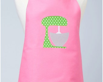 Adult Double Sided Appliqué Apron with Mixer