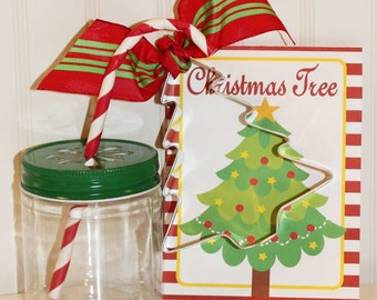 Cookie Cutter, Christmas Tree Cookie Cutter with Recipe Card and Sprinkles, Christmas Party Favors, Cookie Swap Party, Cookie Exchange