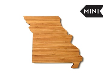 Personalized Cutting Board Missouri, Engraved Cutting Board, Custom Holiday Gift, State Shaped Gift, Corporate Client Gift, Gift Under 50