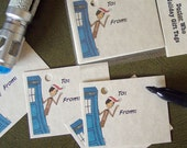 Doctor Who Gift Tags - 15 Holiday Tags - Eleven - Matt Smith
