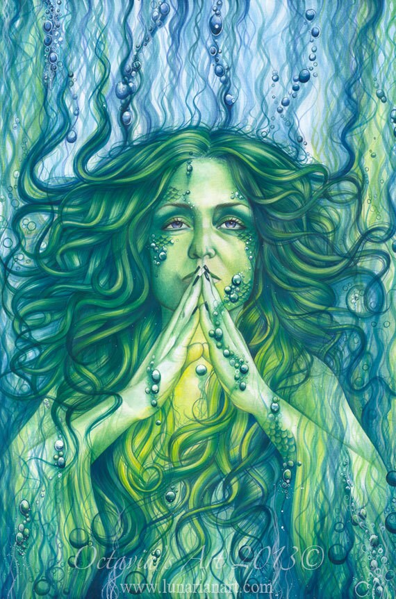 Ocean Heart Reiki Love Print - Mermaid Art - Reiki - Healing