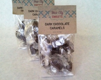 Dark Chocolate Caramels - quarter pound