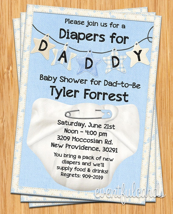 Diapers For Daddy Baby Shower Invitation By Eventfulcards Catch My