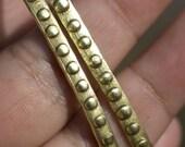 Brass Ring Stock Shank 4mm Dots Textured Metal Wire - Rings Bracelets Pendants Metalwork