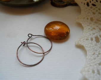 Smaller Copper Hoop Earrings