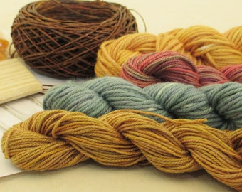 Thread Hand-Dyed & Hand-Painted for Looping or Crochet -- LSK101306