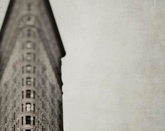 New York Print, Flatiron Building, Brown, Beige, New York Photography, Neutral, Art Deco Architecture