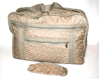 GUCCI Vintage Large Handbag Collapsible Expanding Carry-On Tote - AUTHENTIC -