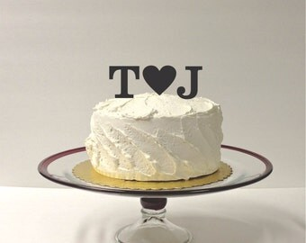 MADE In USA, Acrylic Monogram Wedding Cake Topper, Initials Personalized Wedding Cake Topper, Any 2 Initials of Your Choice, Custom Monogram