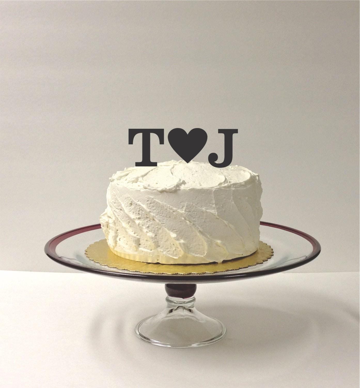 MADE In USA Acrylic Monogram Wedding Cake Topper Initials