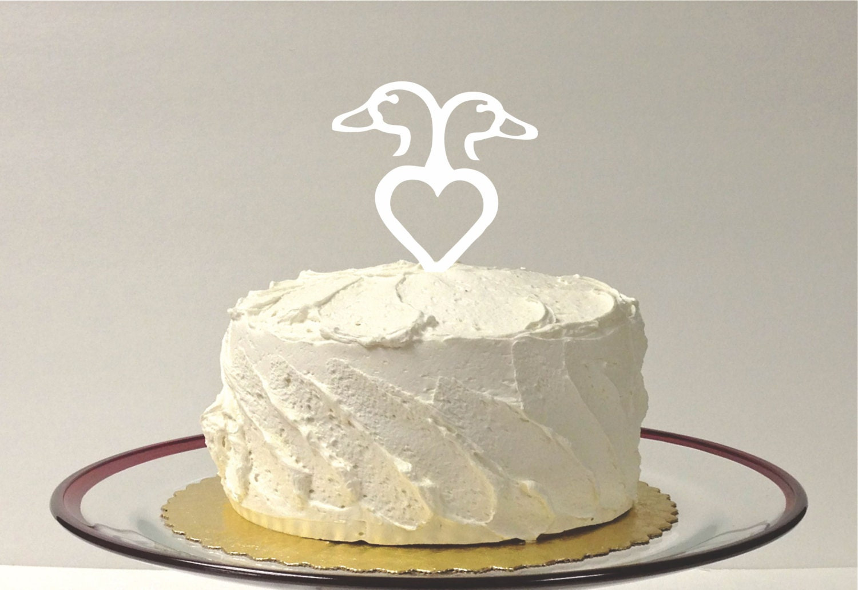Love DUCKS Wedding Cake Topper Country Western DUCK HUNT Cake