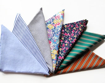 3-Pack Cotton Pocket Squares