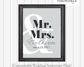 Wedding or Anniversary Printable Wedding Gift 8x10, 11x14 or 16x20