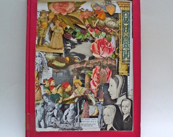 3D Layered Book , Altered Book Sculpture, Repurposed Vintage Book Shadowbox, Recycled Art