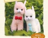 Needle Felting Use Wool Felt to make little Alpaca English Material Kit (English / For Beginner)