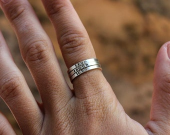 Personalized Stacked Rings - Mommy rings or other