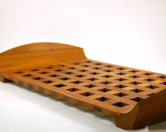 Dansk Denmark Teak Lattice Serving Tray Designed by Jens Quistgaard