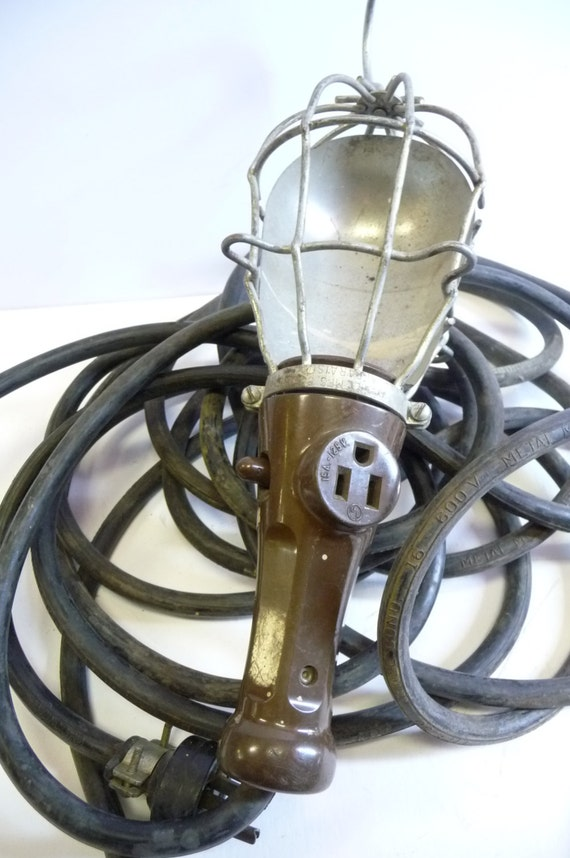 Vintage Cage Trouble Light Mechanic Safety Hanging Lamp Mcgill