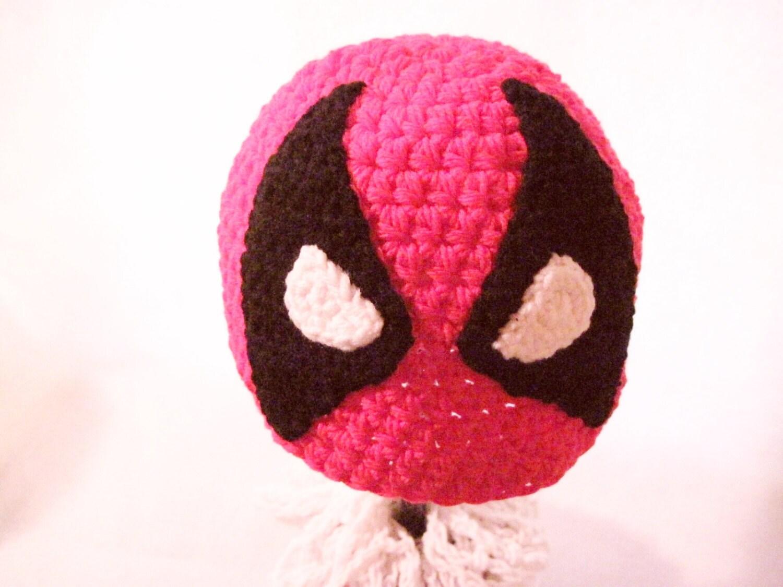 Dovahkiin helmet crochet deadpool inspired beanie hat hand by
