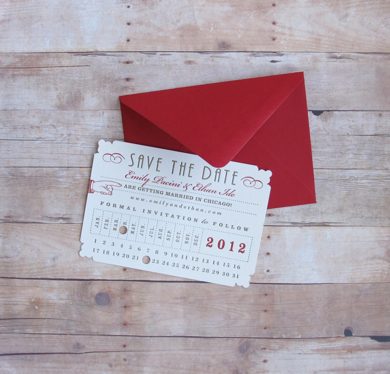 Punch Card Ticket Union Station Train Depot Save the Date – Save the Date Cards Birthday