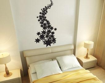 Vinyl Wall Art Decal Sticker Falling Stars 1300B