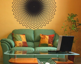 Vinyl Wall Art Decal Sticker Optical Illusion Circle OSDC770s
