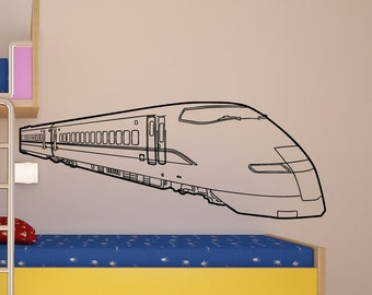 Vinyl Wall Decal Sticker Bullet Train 5238s