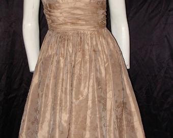 1950s Vintage Taffeta PArty Prom Dress S