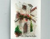 "ACEO Italian Landscape  ART Painting Original Watercolor Landscape ""TUSCANY"" Italy  Italian Landscape & Scenic"