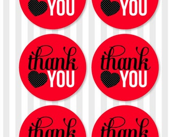 Ladybug Party PRINTABLE Thank You Tags (INSTANT DOWNLOAD) by Love The Day