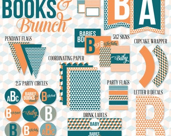 Babies, Books and Brunch Baby Shower PRINTABLE Party by Love The Day