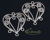 Clearance: 2 Sterling Silver Chandelier Earring Components - bcfc008