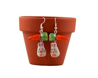 Cute Rabbit Earrings, Bunny Jewellery, Rabbit Lover Gift