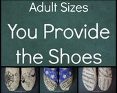 Adult Custom Painted Shoes - You Provide the Shoes - Personalized Shoes - Hand Painted