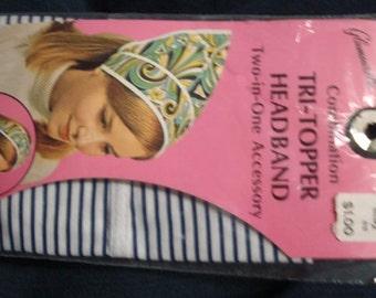 1960s Unused Headband Head Scarf Vintage 1960s Headband in Package Two Styles in One